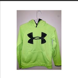 Yellow neon jacket under armour